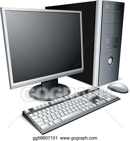 Desktop computer.