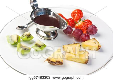 dessert of fruit and berries