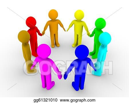 Drawing - Different people in a circle. Clipart Drawing gg61321010 ...