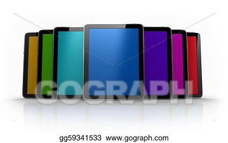 Digital pad tables of different colors