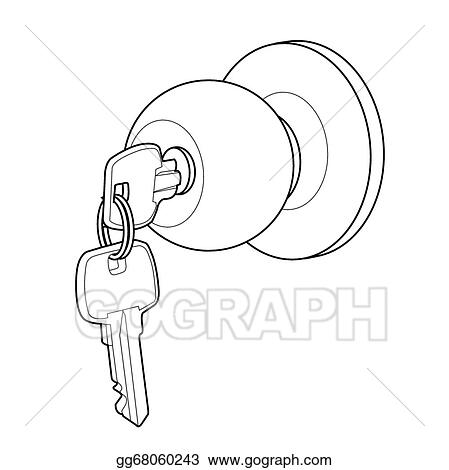 Vector Stock - Door knob out line vector. Stock Clip Art ...