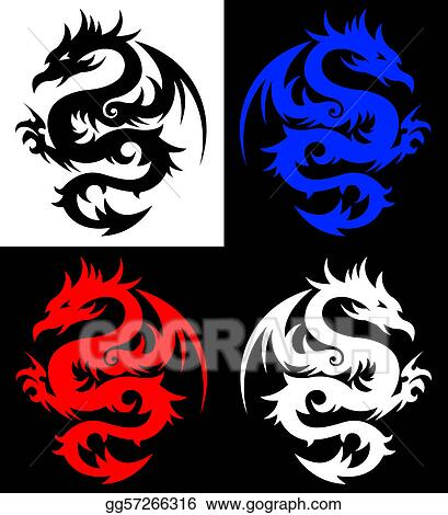 eps tattoo tribal Vector EPS  gg57266316 Art tattoo. tribal   GoGraph  Stock Dragon,