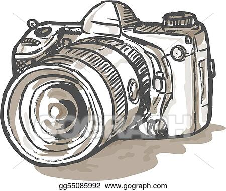 drawing  of a digital SLR camera