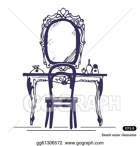 Hand Mirror Clip Art - Royalty Free - GoGraph