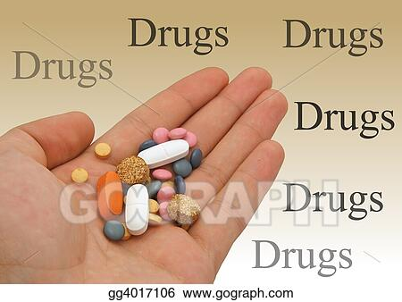 Drugs in hand - isol