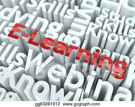 E-learning slogan. Conceptual design.