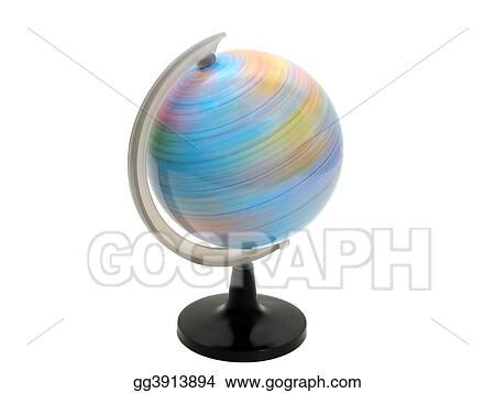 Earth globe spinning
