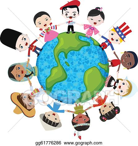 Vector Clipart - Earth  Race And Ethnicity Clip Art