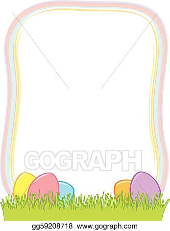 Vector Illustration - Easter egg border. Stock Clip Art gg59208718 ...