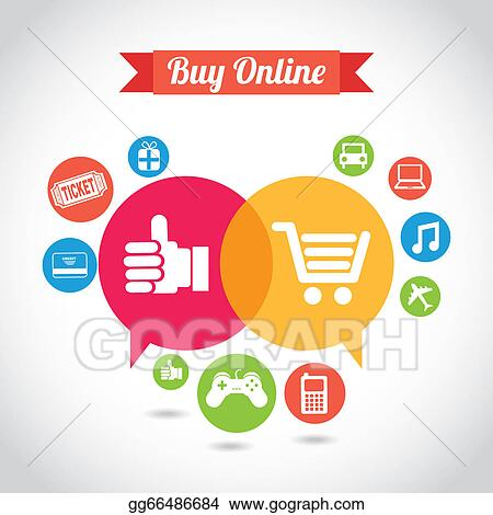 Vector Art - Ecommerce. Clipart Drawing gg66486684 - GoGraph