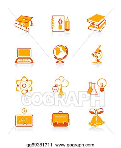 Education objects icons | JUICY