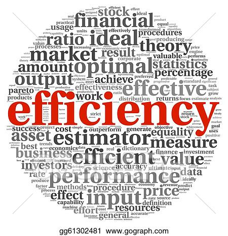 Stock Illustration - Efficiency concept in tag cloud ...