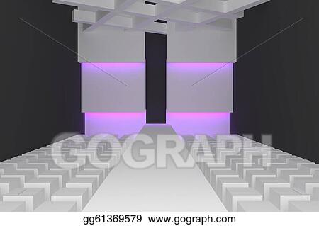 Drawing - Empty fashion runway . Clipart Drawing gg61369579 - GoGraph
