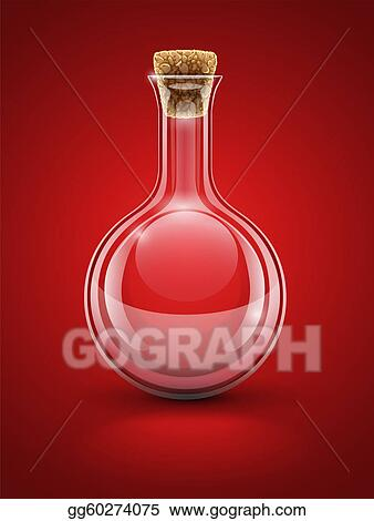 empty glass chemical flask with cork