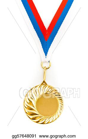 Empty golden medal template for your picture