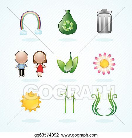 Energy Saving icons set