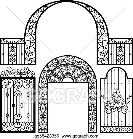 Entrance Gate Door Fence Vintage