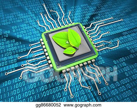 Drawing - Environment friendly computing. Clipart Drawing ...
