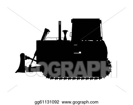 Bulldozer Silhouette C...