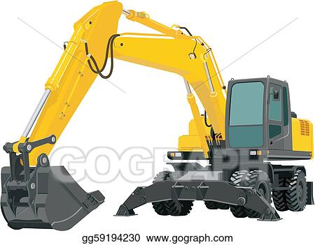 Vector Art - Excavator. Clipart Drawing gg59194230 - GoGraph