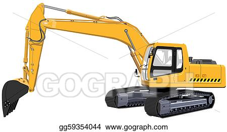 Drawing - Excavator. Clipart Drawing gg59354044 - GoGraph