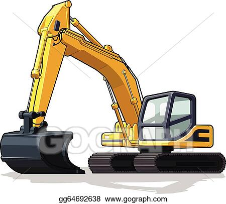 Vector Art - Excavator. Clipart Drawing gg64692638 - GoGraph