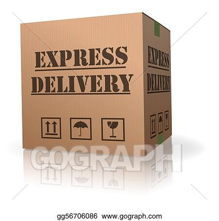 expres delivery cardboard box pack