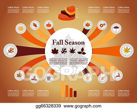 Infographic Ideas easy infographic template : Clip Art Vector - Fall season infographic illustration template ...