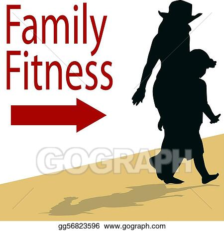 Vector Illustration - Family fitness. Stock Clip Art ...