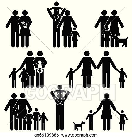 EPS Illustration - Family icon set. Vector Clipart gg65139885 ...