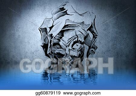 Stock Illustration Fantasy Clown Tattoo With Water Reflection