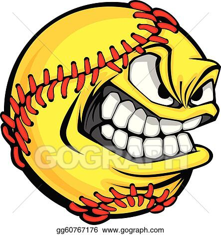 Clip Art Softball Clipart Free softball clip art royalty free gograph fast pitch face cartoon ball vector image