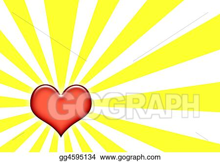 Stock illustration feelings of love and emotions on yellow and white