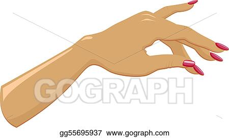 Vector Art - Female hand with manicured. Clipart Drawing ...