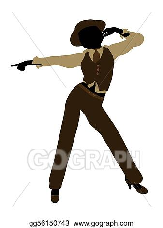 Drawing - Female jazz dancer silhouette. Clipart Drawing ...