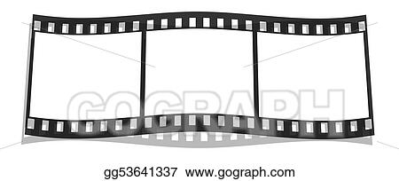 film stripe with blank images isolated on a white