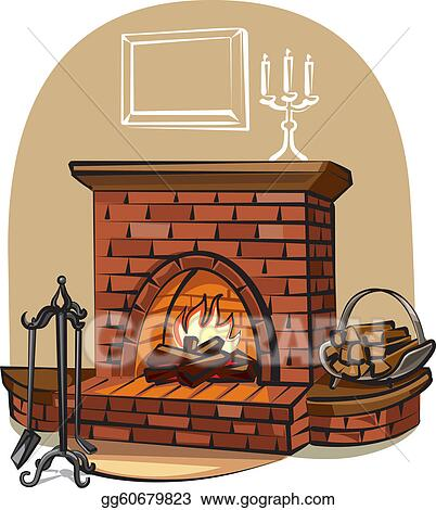 Fireplace Clip Art - Royalty Free - GoGraph