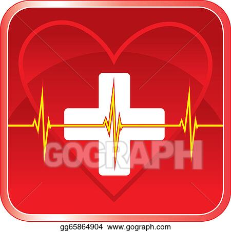 Vector Art - First aid medical heart health. Clipart Drawing ...