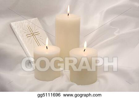 First Holy Communion Candles and Prayer Book