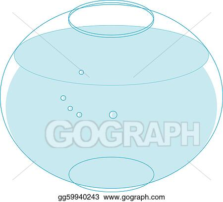 Fish bowl vector clip art 