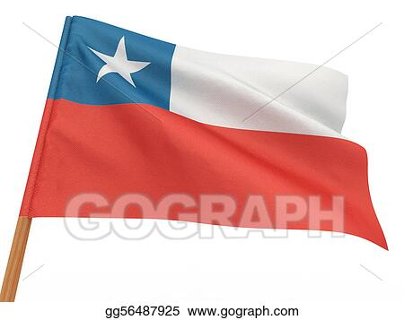 flag fluttering in the wind. Chili