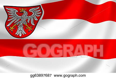 stock illustration flag of frankfurt clipart gg63897687 gograph. Black Bedroom Furniture Sets. Home Design Ideas