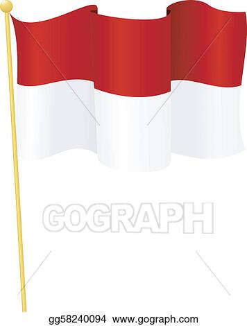 Vector Art - Flag of indonesia. vector. Clipart Drawing gg58240094 ...