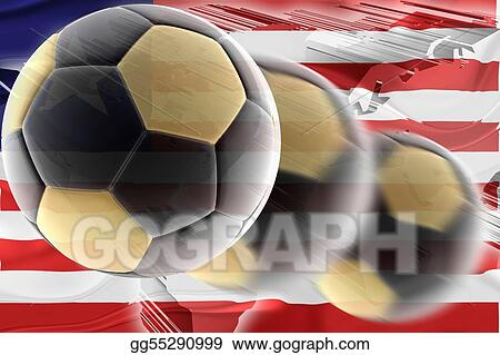 Flag of Liberia wavy soccer