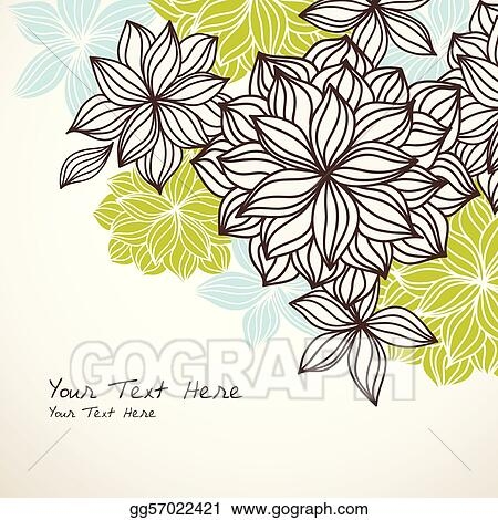 Floral Background Corner Green Blue