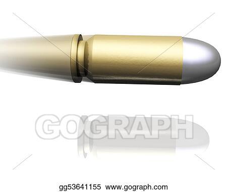 Stock Illustration - Flying bullet. Clip Art gg53641155 - GoGraph