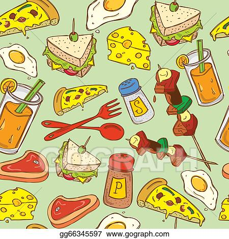 Stock illustration food background pattern stock art illustrations