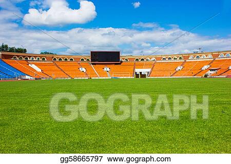football field with score board