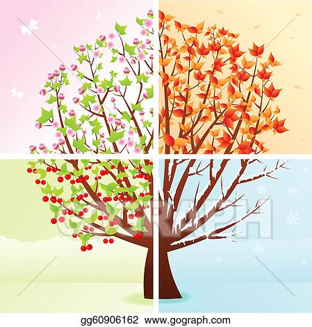 Clip Art Seasons Clipart four seasons clip art royalty free gograph vector tree seasons