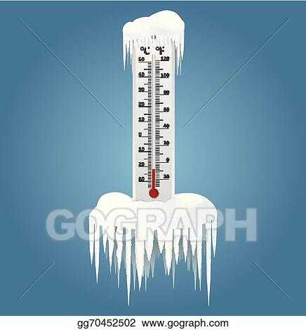 Vector Art - Frozen thermometer. Clipart Drawing ...